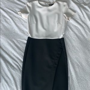 TOPSHOP black and white cocktail dress